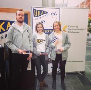 På stand for å promotere første arrangementet i UKA Lillehammer.
