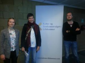 F.v Kine (arrangementsansvarlig KULSAM), Vanja (leder AKULBI) og Anders (økonomisansvarlig KULSAM)